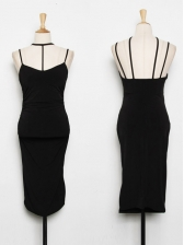 Fashion Cut Out Sleeveless Little Black Dress
