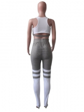 Ruched Butt Contrast Color 2 Piece Yoga Outfit
