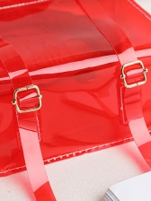 Letter Printed Transparent PVC Jelly Small Backpack
