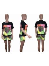Leopard Print Short Sleeve Summer Women Sets
