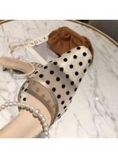 Polka Dots Closed Toe Slip On Cute Slippers