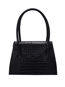 Trapezoidal Crocodile Print Pure Color Simple Handbags