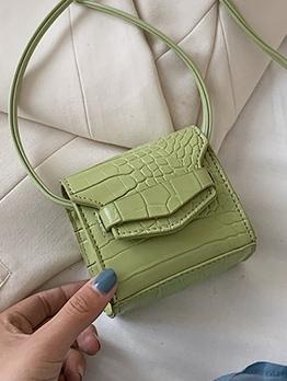 Thin Strap Candy Color Alligator Print Mini Crossbody Bags