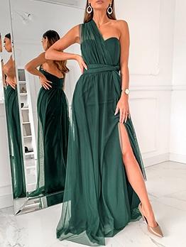Hot Sale Crisscross Backless Evening Maxi Dresses