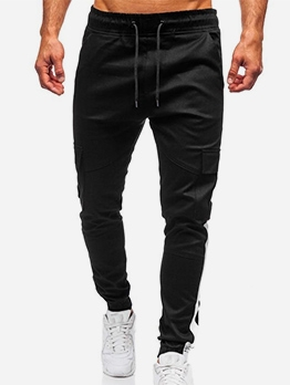 Contrast Color Pocket Cargo Pants For Men