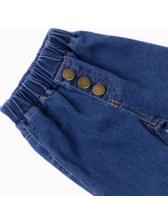 Gradient Color Flare Jeans For Girl Vintage