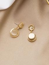 Stylish Opal Circle Short Drop Earrings For Women