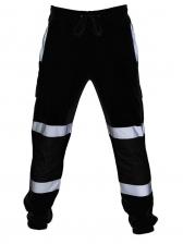Contrast Color Reflective Drawstring Jogger Pants