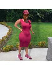 Sexy Solid Sleeveless Bodycon Dress