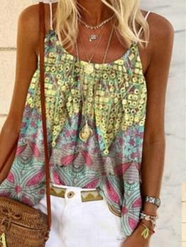 Bohemian Printed Beach Cami Top