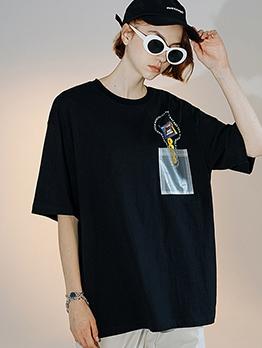 Creative Print Short Sleeve Couple T Shirt