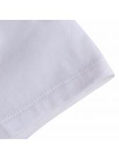 Letter Print Short Sleeve Unisex T Shirts