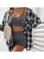 Simple Style Pure Color High Waist Tracksuit Sets