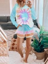 Leisure Gradient Color Loungewear 2 Piece Sets