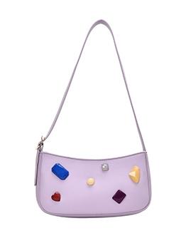 Geometric Rhinestone Short Strap Women Shoulder Bags