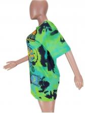 Printed Short Sleeve Tie Dye T Shirts