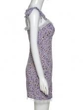 Lace Patchwork Floral Purple Sundress