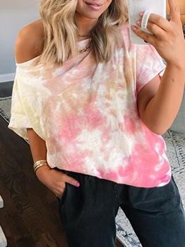 Summer Short Sleeve Tie Dye T Shirts