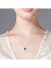Oval Emerald Light Luxury Necklace