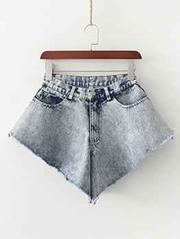 Irregular Design New Arrivals Short Jeans For Women