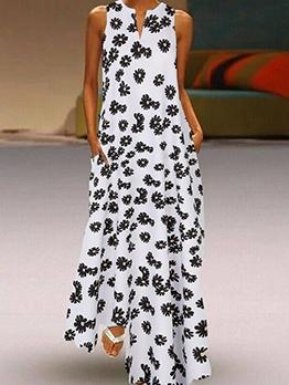 Daisy Printed Casual Summer Maxi Dresses