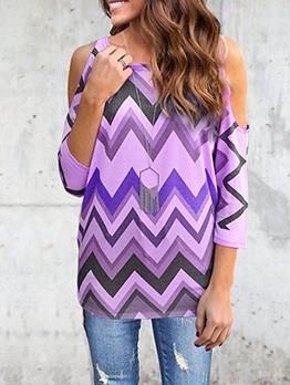 Euro Waves Printed Shoulder Cut t Shirt Design