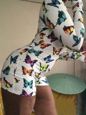 Casual Printed Long Sleeve Women Cheap Onesie