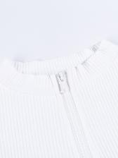 Stand Collar Solid Zipper Up Cheap t Shirts