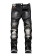 Casual Mid Waist Straight Leg Jeans