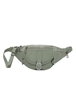 Multiple Zipper Adjustable Belt Solid Crossbody Bum Bag