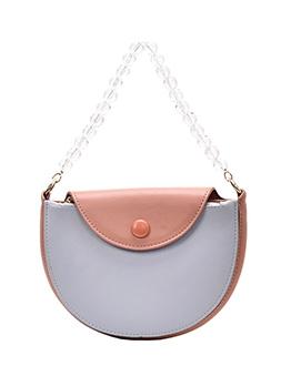 Clear Bead Adjustable Belt Semicircle Shoulder Bags