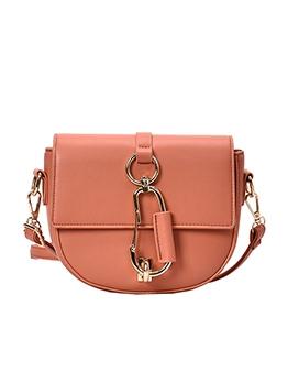 Metal Buckle Solid Color Shoulder Bags For Women