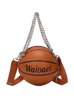 Detachable Chain Basketball Shape Letter Crossbody Bags