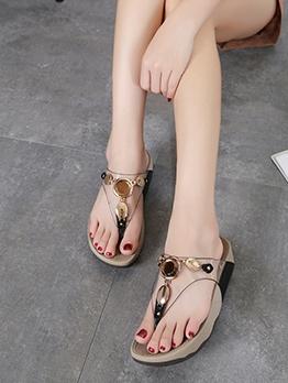 Fashion Rhinestone Simple Women Flip Flop Slippers
