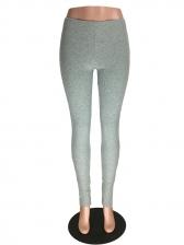 Sports Skinny Split Hem Pants For Women