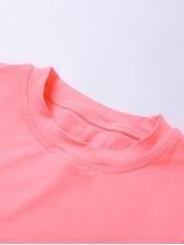Minimalist Style Summer Solid Color Skinny Tracksuit Set