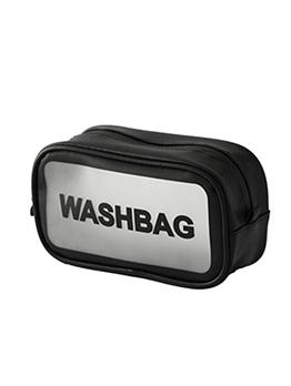 Pu Patchwork PVC Waterproof Portable Cosmetic Storage Bag
