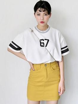 Contrast Color Loose Oversize T-Shirt