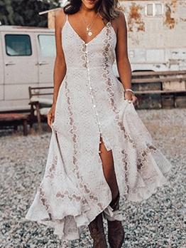 Bohemian Snake Skin Printed Slip Maxi Dresses
