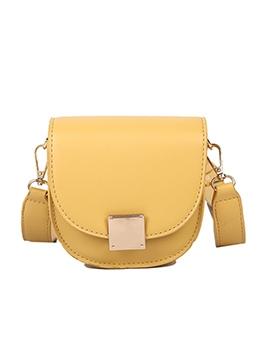 Detachable Belt Solid Color Simple Style Shoulder Bags
