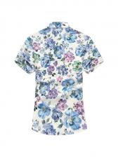 Summer Floral Short Sleeve Shirts For Men