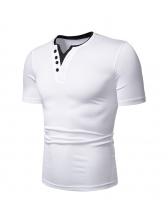 V Neck Short Sleeve T Shirts For Men