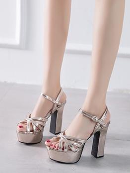 Fashion Chunky High Platform Sandals