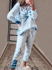 Leisure Loungewear Printed Two Piece Pants Set