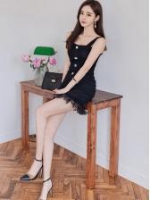 Gauze StringySelvedge Sexy Patchwork Dress