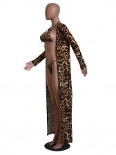 Sexy Leopard Print Bikini Three Piece Set