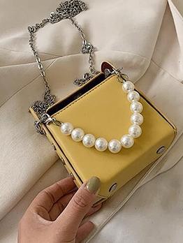 Detachable Faux Pearl Handle Chain Mini Shoulder Bags