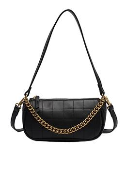 Threads Plaid Adjustable Belt Solid Color Shoulder Bags