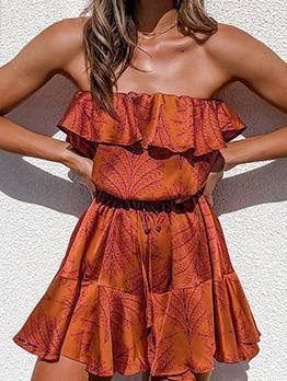 Euro Empire Waisted Strapless Summer Dress
