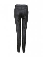 Sexy High Waist Skinny Black Pu Pants